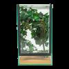 Decoration set inside housing. Decoratie set in insecten terrarium