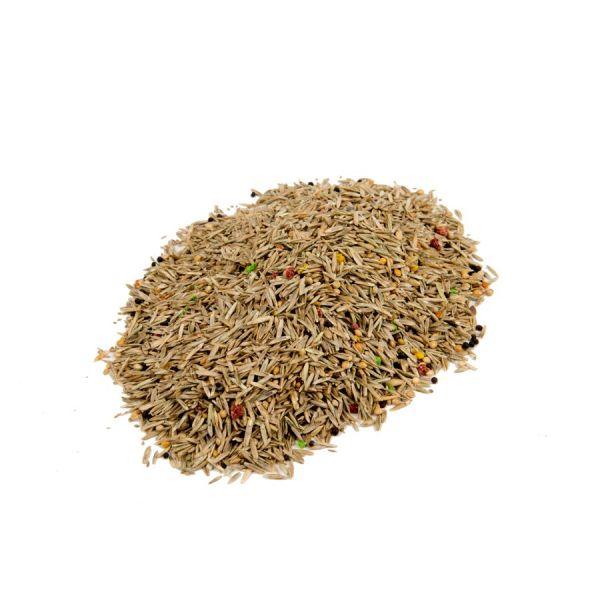 Mengsel diverse gras- en vogelzaden, mixture different gras and bird seeds